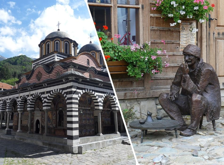 Bulgarian monasteries and typical villages